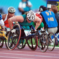 Women's 1500m wheelchair event at the 2000 Sydney Paralympics