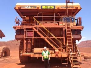 At the Rio Tinto iron ore mine at Tom Price 2013