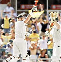 Matthew Hayden's world record at the WACA Ground in 2003