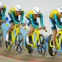 Men's team pursuit world record at the Athens Olympics