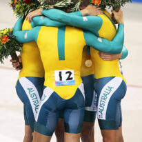 Men's team pursuit gold medal at the Athens Olympics